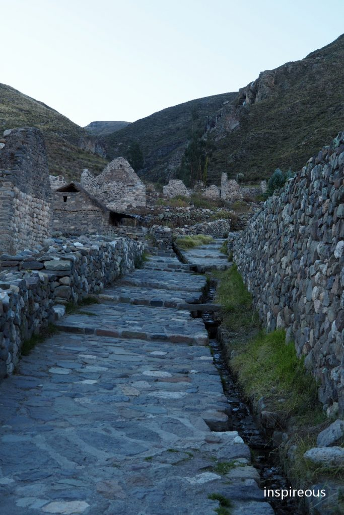 incan ruin - colca valley